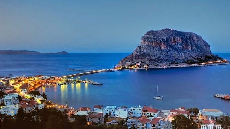 Monemvasia, Castle, Peloponisos, Greece, Waterfront, Heritage